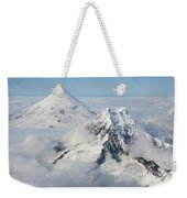 Aerial View Of Shishaldin Volcano Weekender Tote Bag