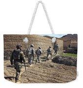 Afghan National Army And U.s. Soldiers Weekender Tote Bag