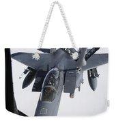Air Refueling A F-15e Strike Eagle Weekender Tote Bag