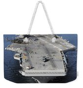Aircraft Carrier Uss Carl Vinson Weekender Tote Bag