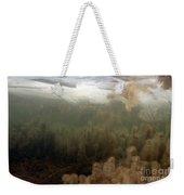 Algae In A Frozen Pond Weekender Tote Bag