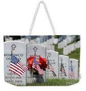 American Flags Placed In The Front Weekender Tote Bag