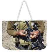 An Afghan National Army Soldier Weekender Tote Bag