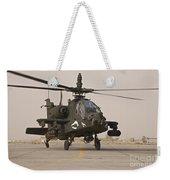 An Ah-64 Apache Helicopter Taxiing Weekender Tote Bag