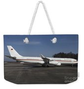 An Airbus 340 Acting As Air Force One Weekender Tote Bag by Timm Ziegenthaler