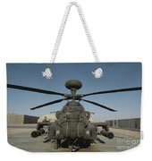 An Apache Helicopter At Camp Bastion Weekender Tote Bag