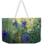 An Attwaters Prairie Chick Surrounded Weekender Tote Bag
