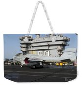 An Ea-6b Prowler Makes An Arrested Weekender Tote Bag