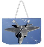 An F-22 Raptor Moves Into Position Weekender Tote Bag