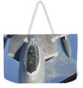 An F-22 Raptor Receives Fuel Weekender Tote Bag