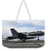 An Fa-18c Hornet Lands Aboard Weekender Tote Bag
