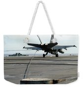 An Fa-18c Hornet Makes An Arrested Weekender Tote Bag