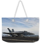 An Fa-18f Super Hornet Takes Weekender Tote Bag by Stocktrek Images