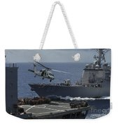 An Mh-60s Knighthawk Helicopter Weekender Tote Bag