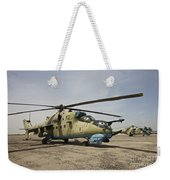 An Mi-35 Attack Helicopter At Kunduz Weekender Tote Bag
