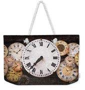 Antique Clocks Weekender Tote Bag by Elena Elisseeva