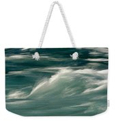 Aqua Blue Waves Weekender Tote Bag