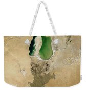 Aral Sea Weekender Tote Bag by NASA / Science Source