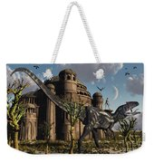 Artists Concept Of A Reptoid Race Whom Weekender Tote Bag