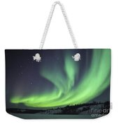 Aurora Borealis Over Prosperous Lake Weekender Tote Bag