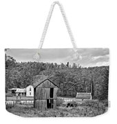 Autumn Farm Monochrome Weekender Tote Bag by Steve Harrington