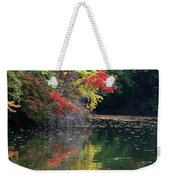 Autumn Tree Reflections Weekender Tote Bag