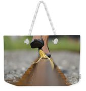 Banana Peel On The Railroad Tracks Weekender Tote Bag