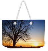 Bare Tree At Sunset Weekender Tote Bag