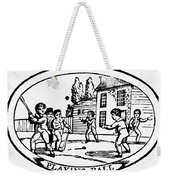 Baseball Game, 1820 Weekender Tote Bag