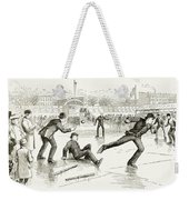 Baseball On Ice, 1884 Weekender Tote Bag