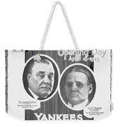 Baseball Program, 1923 Weekender Tote Bag