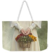 Basket With Flowers Weekender Tote Bag