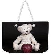 Bear And Apple Weekender Tote Bag