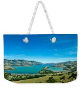 Beautiful Summer Day View Into The Akaroa Harbour Weekender Tote Bag