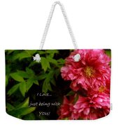 Being With You Weekender Tote Bag