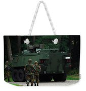 Belgian Infantry Soldiers Walk Weekender Tote Bag by Luc De Jaeger