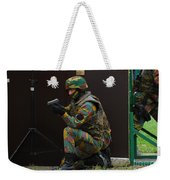 Belgian Paracommandos Entering Weekender Tote Bag by Luc De Jaeger