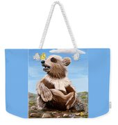 Ben Bear And Butterfly Weekender Tote Bag