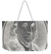 Ben Franklin In Negative Weekender Tote Bag