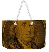 Ben Franklin In Orange Weekender Tote Bag