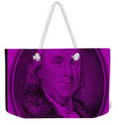 Ben Franklin In Purple Weekender Tote Bag