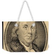 Ben Franklin In Sepia Weekender Tote Bag