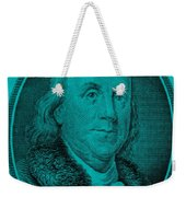Ben Franklin In Turquois Weekender Tote Bag