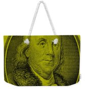Ben Franklin In Yellow Weekender Tote Bag