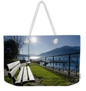 Bench In Backlight Weekender Tote Bag