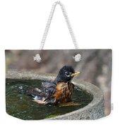 Bird Bath Fun Time Weekender Tote Bag