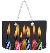 Birthday Candles Weekender Tote Bag