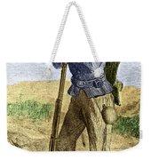 Black Civil War Soldier Weekender Tote Bag