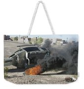 Black Smoke Rises To The Air Weekender Tote Bag