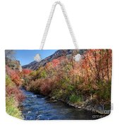 Blacksmith Fork River In The Fall - Utah Weekender Tote Bag